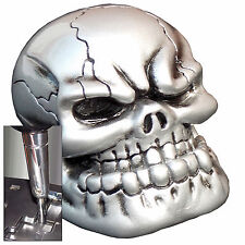 Pewter Punchy Skull shift knob w/ chrome adapter for automatic shifter See desc.