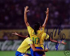 Marta Brazil Soccer World Cup Signed 8x10 Photo Coa!