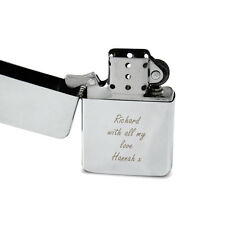 Personalised Silver Lighter - Engraved Free, Freestyle Font - Birthdays Weddings