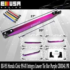EMUSA Lower Tie Bar FOR 1988-1990 1991-1995 Honda Civic 1999-2001 Integra PURPLE