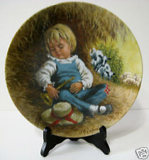 "Little Boy Blue Mother Goose Series 8 1/2"" Collector Plate W/ Certificate Nib"