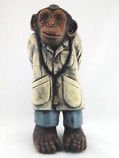 Progressive Art Products 1970 Chalkware Monkey Doctor w Syringe/Stethoscope RARE