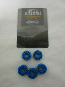 "Mathews custom dampening accessories Rubber roller BLUE 5 pack 3/4"" diameter"