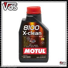 5 Litri Motul 8100 X-CLEAN 5W40 Olio Tagliando Motore Auto Acea C3 100% Sintetic