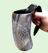 Game Of Thrones Stark-Sigil Wolf Viking Drinking Horn Mug Cup Beer Wine Mead kml
