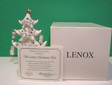 LENOX THE CHRISTMAS TREE with 8 MINIATURE ORNAMENTS New in Box with COA