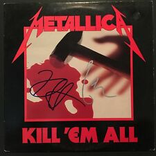 Metallica Kill'em All  Signed Autograph Record Album JSA COA Kirk Hammett Lars