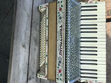 More details for vintage frontalini numana-italia accordion - white floral design. fully working.