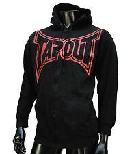 TapOut Ufc Team Big Logo Black Zip Up Fleece Mens Hoodie size Medium