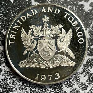 1973 Trinidad & Tobago $5 Lot#PJ98 Large Silver Coin! Proof!