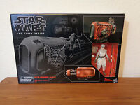 """Star Wars The Black Series #03 6"""" Rey's Speeder with Rey (Jakku) NEW IN HAND"""