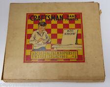 VINTAGE 1930 CRAFTSMAN HAND PRINTER, rubber letters, #, symbols`free shipping