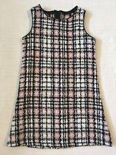 Bonnie Jean Toddler Girls Dress Tweed Jumper Size 4 Black Pink White Plaid