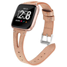 Leather Strap Smart Watch Band Replacement Bracelet Wristband for Fitbit Versa