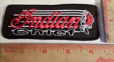Vintage Indian Chief motorcycle embroidered patch collectible old biker emblem