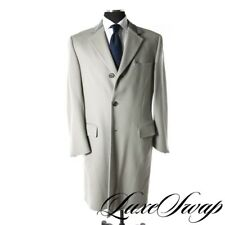 INSANE Gucci Made in Italy 100% Cashmere Blued Grey Chesterfield Coat Jacket 50
