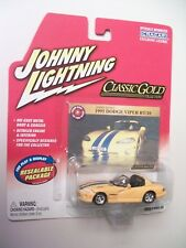 Johnny Lightning 1:64 scale 1995 Dodge Viper RT/10, Classic Gold, 2004 release