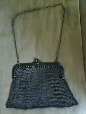 """Vintage Chain Mail Metal Alloy Mesh Purse With Chain and Clasp 6"""""""