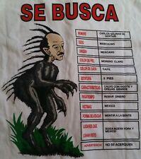 Vintage Rare El Chupacabra Funny T Shirt Carlos Salinas de Gortari Mexico Sz XL