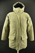 Peak Performance Women`s Down Parka Jacket Hooded Beige Padded Coat Size XS