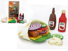 Make Create Own Pocket Bread Wooden Felt Pretend Play Educational Kitchen Food