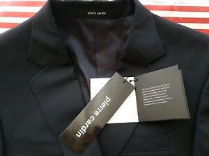 "NEW unworn Pierre Cardin 2 piece navy blue suit 100% wool Size 38. 33"" waist"