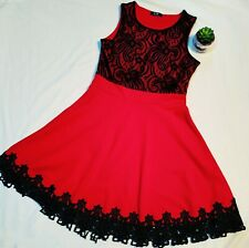 Red and black dress size 12