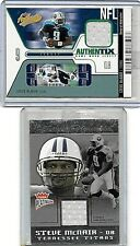 STEVE McNAIR LOT OF 2 DIFFERENT GAME USED JERSEY CARDS