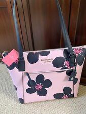 💙 Kate Spade Grand Flora Serendipity Pink Pocket Tote Bag Purse Handbag NWT