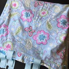 Pottery Barn Kids Samantha Duvet Cover Full/Queen Blue Foral Butterflies