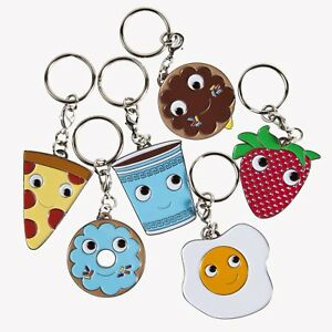Kidrobot - Enamel Keychains - Yummy Breakfast Keyrings - Set 6 Designs Supplied
