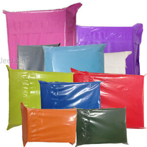 Strong Coloured Plastic Mailing Bags Post Poly Postage Strong Self Seal Mailer