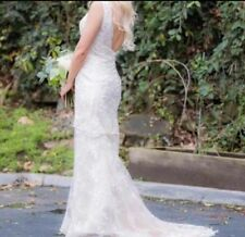 Exquisite Champagne Lace Wedding Dress Size 4