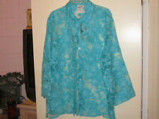 Ladies Bon Worth Blue Floral Top (XL)