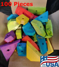 """100 Large Wooden Parrot Bird Toy Parts """"Scraps and Uglies"""" Cockatoo Amazon"""