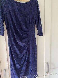 Monsoon Navy Lace Dress, Size16