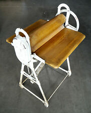 Antique laundry lack with Folding Table, Hand Crank lack Crank Press Laundry role