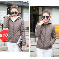 Fashion Short Womens Quilted Cotton Down Jacket Hooded Parka female Coat Jackets