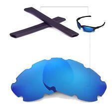 New WL Polarized Vented Ice Blue Lenses And Black Earsocks 4 Oakley Split Jacket