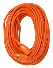 100ft Feet Power Extension Cord Cable 16 GAUGE Heavy Duty US Plug Outdoor Orange