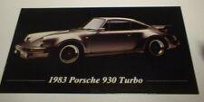 ★★1983 PORSCHE 930 TURBO PHOTO MAGNET-TOOLBOX,FRIDGE-83★★