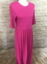 NEW DG2 Diane Gilman Pink Short Sleeve Maxi Dress A2588