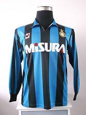 ORIGINALE INTER MILAN L / S Casa Calcio Maglia Jersey (M) 1990-1991