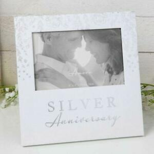 AMORE SILVER ANNIVERSARY PAPERWRAP PHOTO FRAME HEARTS DESIGN AM11525