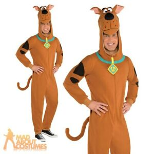 Adults Scooby Doo Costume Dog Fancy Dress Fleece Outfit Mens Ladies Book Day