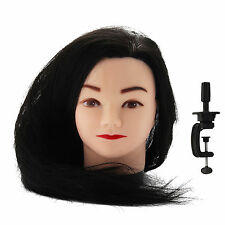 Long Hair Mannequin Cut Salon Practice Hairdressing Training Head Model + Clamp