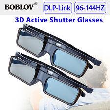 2 x BOBLOV DLP-Link 144 HZ 3D occhiali attivi per Acer Samsung BenQ Sharp