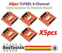 5pcs TLP281 4 CH Channel Opto-isolator IC Module Board Optocoupler Isolation