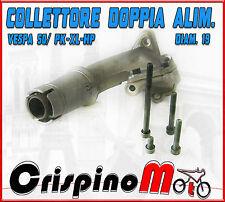 COLLETTORE POLINI  DOPPIA ASPIRAZIONE d.19  2 FORI VESPA XL 215.0200
