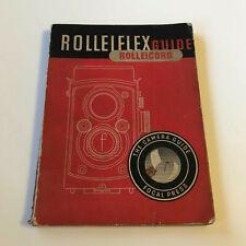 ROLLEIFLEX GUIDE ROLLEICORD - Twenty-Ninth Edition - by W. D, EMANUEL '1955'